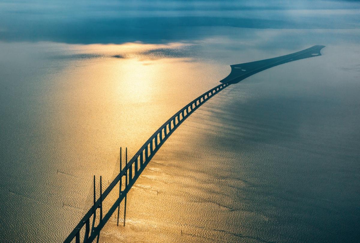A Copenhague, un pont tunnel pour aller enSuède